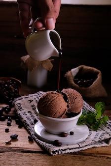 Мороженое шоколадный кофе