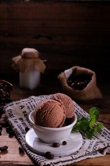Мороженое кофейное темное