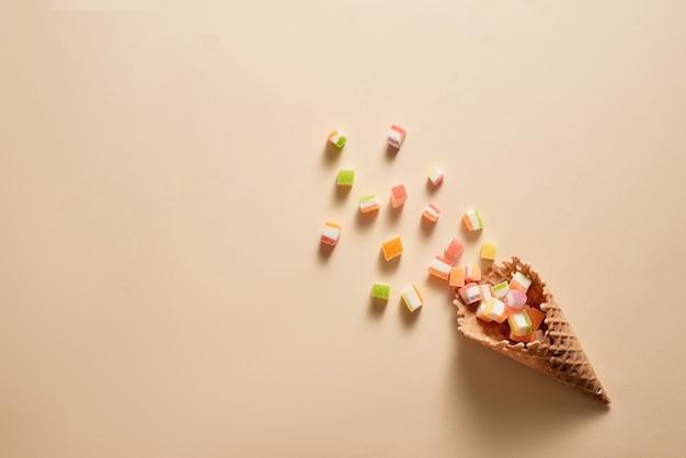 아이스크림 콘 평면 이미지
