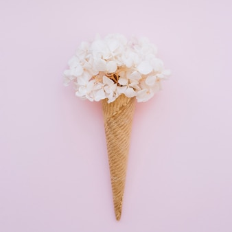 Ice-cream cone with flowers