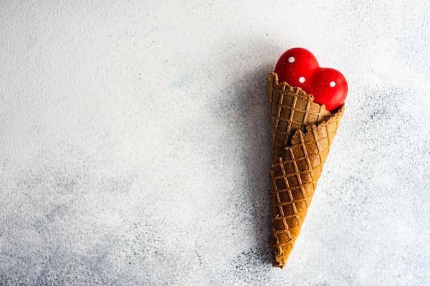 Ice cream cone with heart