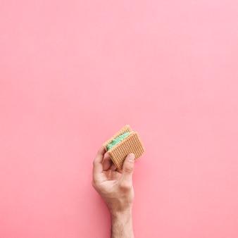 アイスクリームサンドイッチの背景