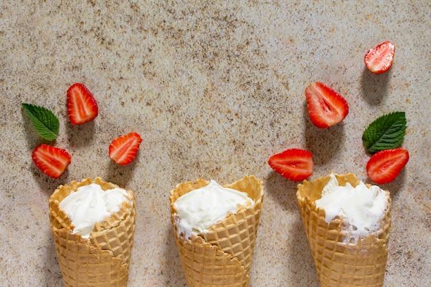 딸기 아이스크림