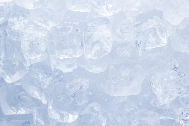 Ice cubes close up background