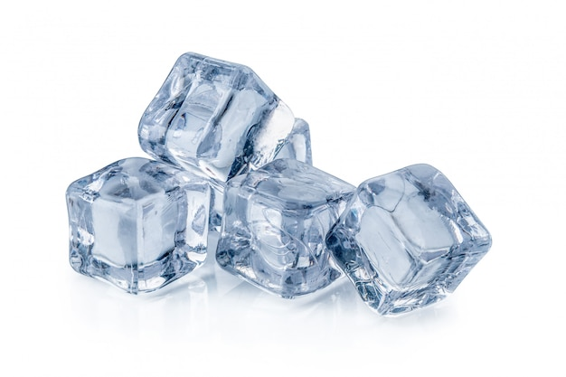 Ice cubes isolated on a white
