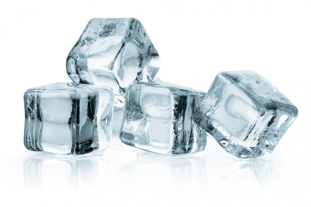 Ice cubes isolated