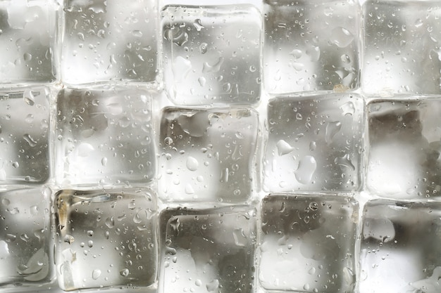 Ice cubes texture background