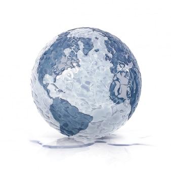 Ice earth globe