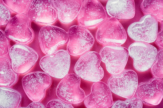 ピンクのアイスハート