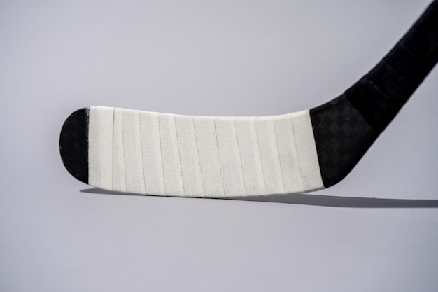 Ice hockey stick on isolated white background