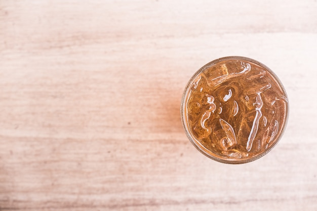 Ice lemon tea glass