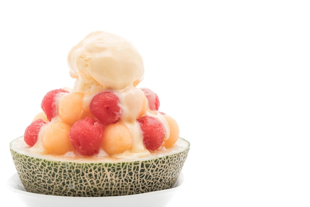 Ice melon bingsu