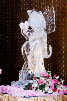 Ice sculpture at wedding