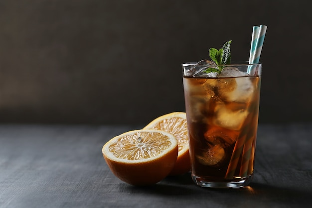 Ice tea with mint