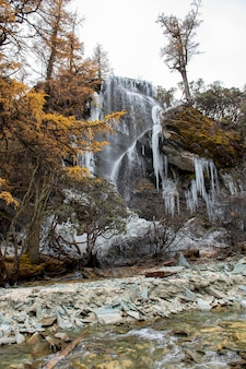 Ice waterfall in yading nature reserve, china