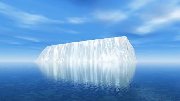 광활한 바다에서 빙산