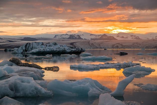 Iceberg lagoon in iceland