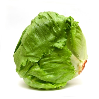Iceberg lettuce isolated on white