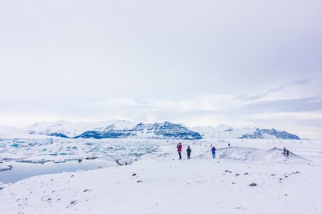 Icebergs in glacier lagoon, iceland