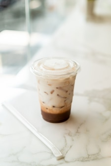Iced belgian chocolate milkshake cup