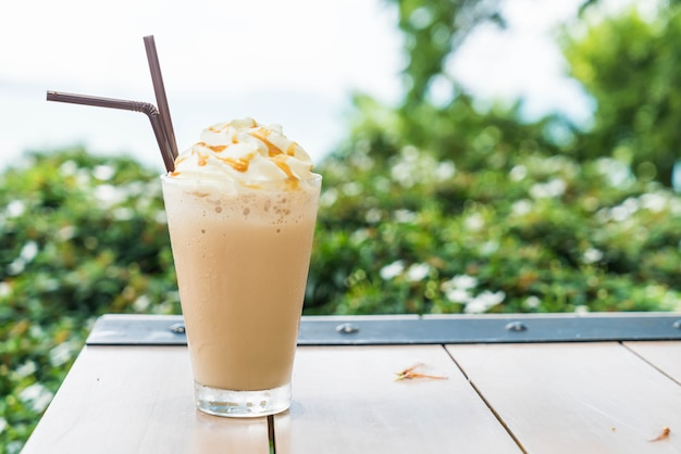 Iced cappuccino coffee