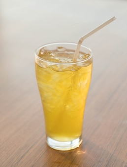 Iced chrysanthemum tea glass
