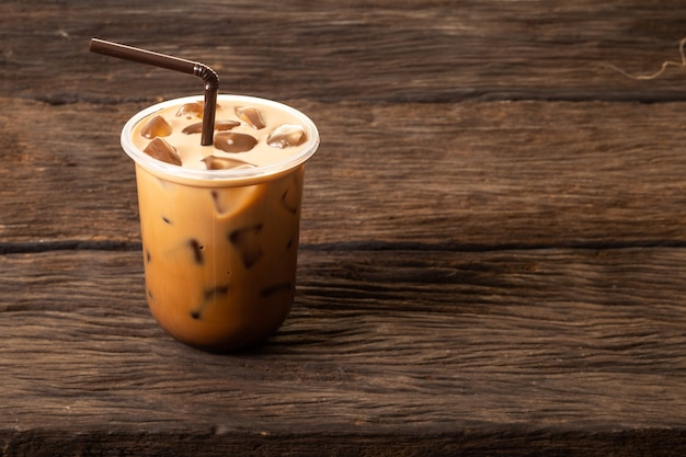 Iced coffee beverage for refreshment in summer