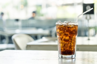 Iced cola on the table