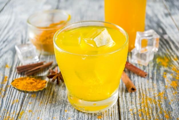 Iced golden turmeric tea