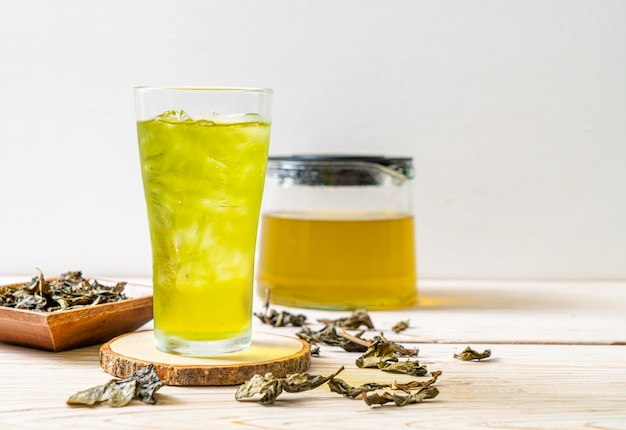 Iced japanese green tea