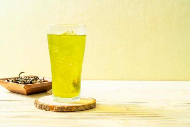 Iced japanese green tea