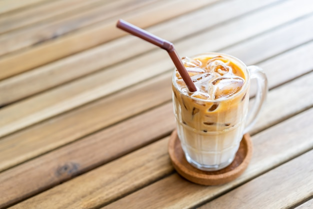 Iced latte coffee