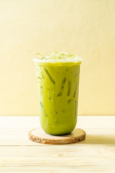 Iced matcha latte green tea