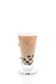 Iced milk tea with bubble