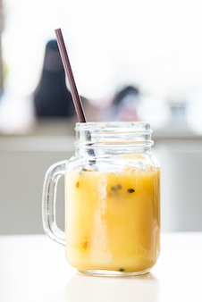 Iced passion fruit glass