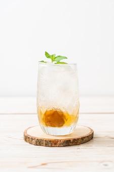 Замороженный сливовый сок с содой и мятой