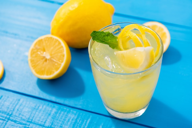 Iced summer lemonade refreshing drink