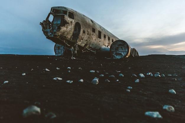 Iceland, airplane wreck at solheimasandur