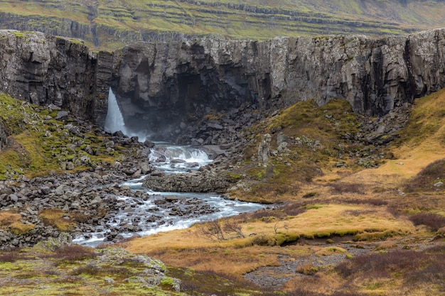 Iceland berufjordur waterfall
