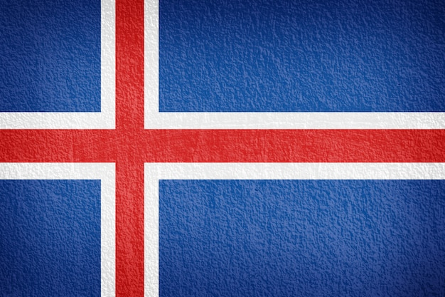 Iceland flag painted on grunge wall