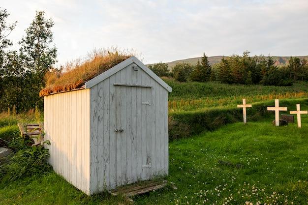 Iceland landscape of beautiful church
