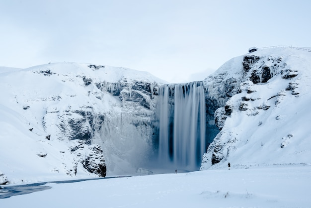 Icelandic frozen waterfall