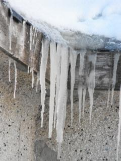 Icicles, ice