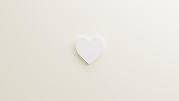 Значок любовь минималистский с белым фоном рендеринг 3d иллюстрации для плаката событие праздник