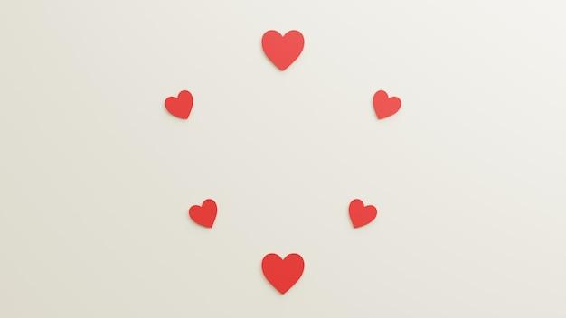 Значок любви с белым фоном рендеринг 3d иллюстраций для плаката, праздника и т. д.