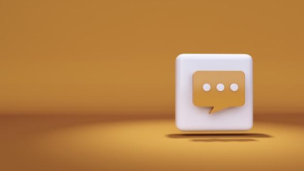 Значок массаж 3d-рендеринга на желтом фоне и основные моменты