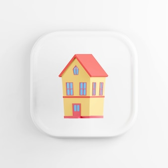 Икона двухэтажного желтого дома с красной крышей