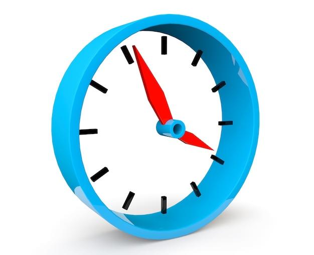 흰색 바탕에 파란색 추상 시계의 아이콘