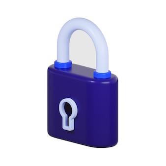 白で隔離鍵穴とロックのアイコン Premium写真