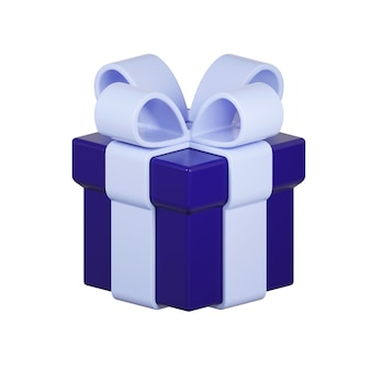 白で隔離のプレゼントボックスのアイコン